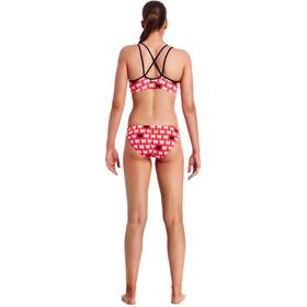 Funkita Criss Cross Bikini Kobiety czerwony/biały